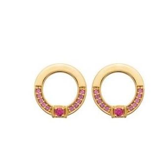 Boucles d'oreilles plaqué-or 3 microns et pierres synthétiques 2585480