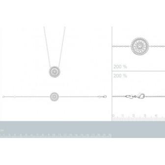 Bracelet argent rhodié 925/000 oz 87325918