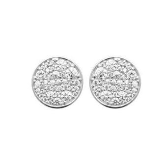 Boucles d'oreilles argent rhodié 925/000 1573310