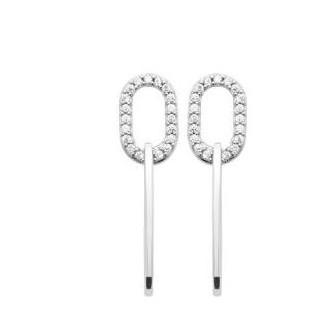 Boucles d'oreilles argent rhodié oz 1574910