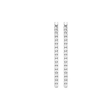 Boucles d'oreilles argent rhodié 925/000 oz 1556410