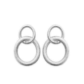 Boucles d'oreilles argent rhodié 925/000 7581500