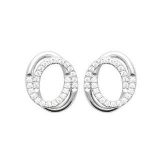 Boucles d'oreilles argent rhodié 925/000 oz 1588110