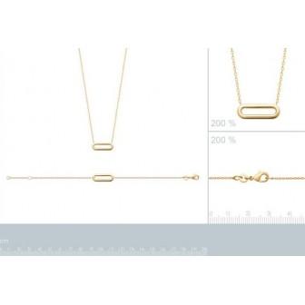 Bracelet plaqué-or 750/000 3 microns 92179818