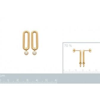 Boucles d'oreilles 750/000 3 microns oz 2587210