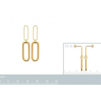 Boucles d'oreilles plaqué-or 750/000 3 microns 2586700