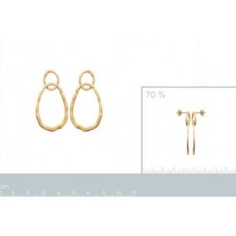 Boucles d'oreilles plaqué-or 750/000 3 microns 2577000