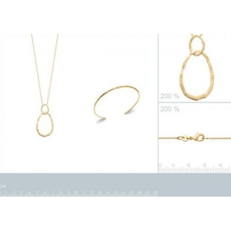 Collier plaqué-or 750/000 3 microns 92174145