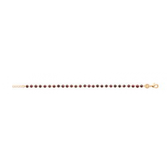 BRACELET PLAQUE -OR 750/000 3MICRONS GRENAT 97346218